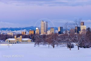 Denver skyline photo winter
