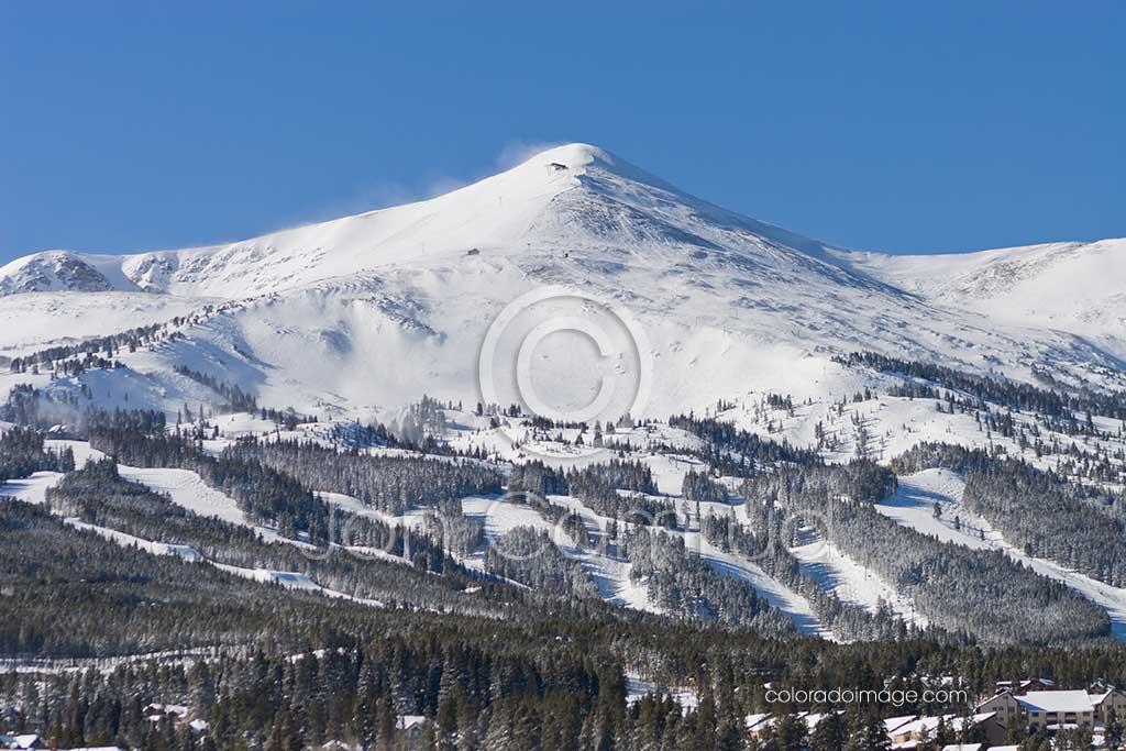 winter mountain photo Breckenridge Peak 8