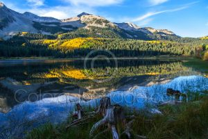 mountain lake landscape photo fall